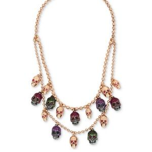 Betsey Johnson skull layer necklace
